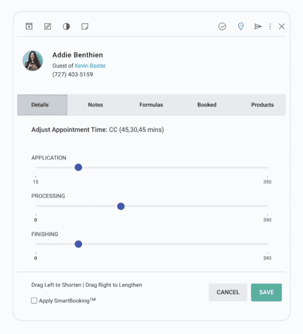 animated example of appointment slider